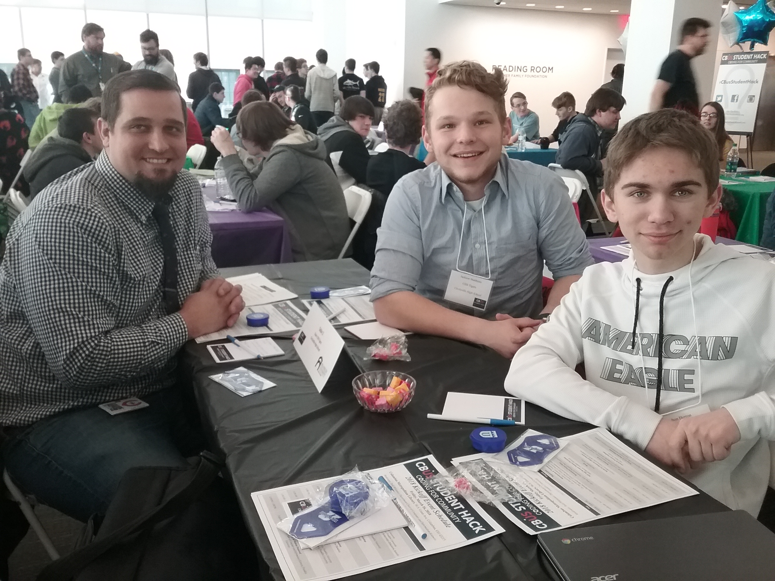 CHS students with Mr. Thomas at the state coding conference.