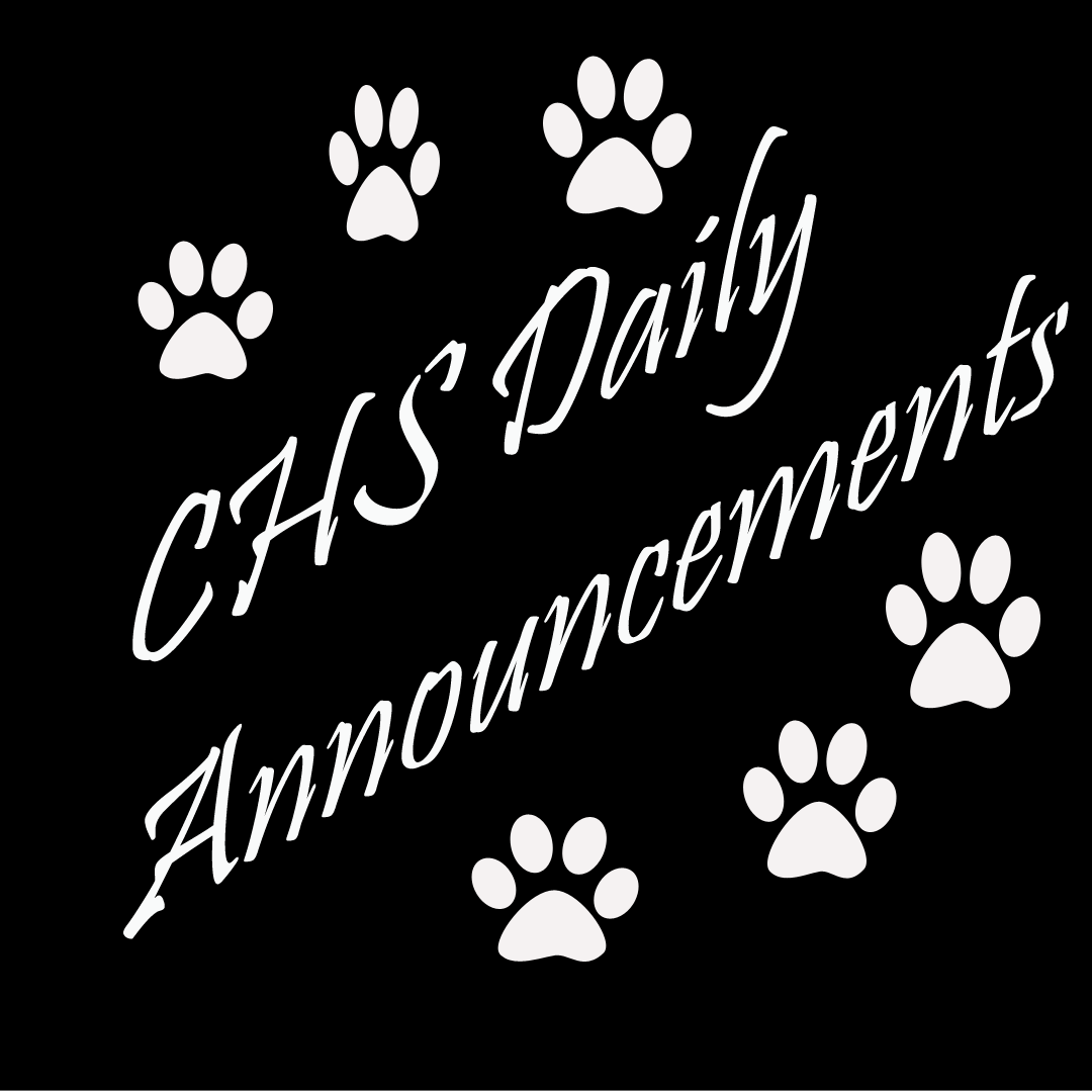 CHS Daily Announcements - click below!